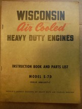 Wisconsin Engines vintage 1960s instruction manual & ill. parts list model S-7D - $11.48