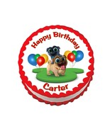 Puppy Dog Pals party decoration round edible party cake topper cake image - $7.80