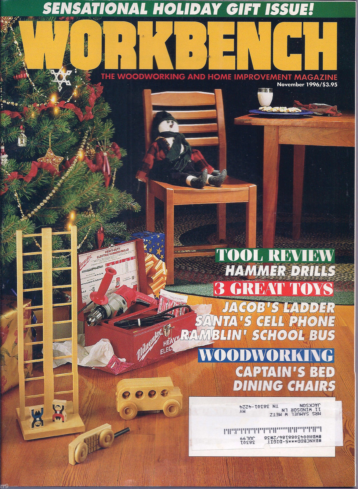 Primary image for Workbench November 1996 The Do-It-Yourself Magazine/  Sensational  Holiday !