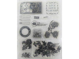 Floral and Sentiments Clear Stamp Set