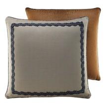 "Croscill Ryland Blue Gold Euro Pillow Sham 26""x 26"" Square European Euro - $44.43"