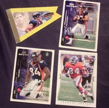 Shannon Sharpe WR # 84 and Ed McCaffrey  WR# 87 Football Trading Cards AA-19FTC3