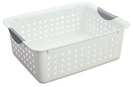MRT SUPPLY 12 Medium Ultra Plastic Storage Bin Organizer Basket - White ... - $87.75