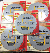 "SkilSaw 5 PCS 7-1/4"" X 40 Teeth  Carbide Saw Blade 5/8 x 13/16 knock out,  - $37.62"