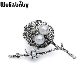 Wuli&baby Vintage Simulated-Pearl Tree Brooch Pins Women Bouquet Scarf B... - $19.28