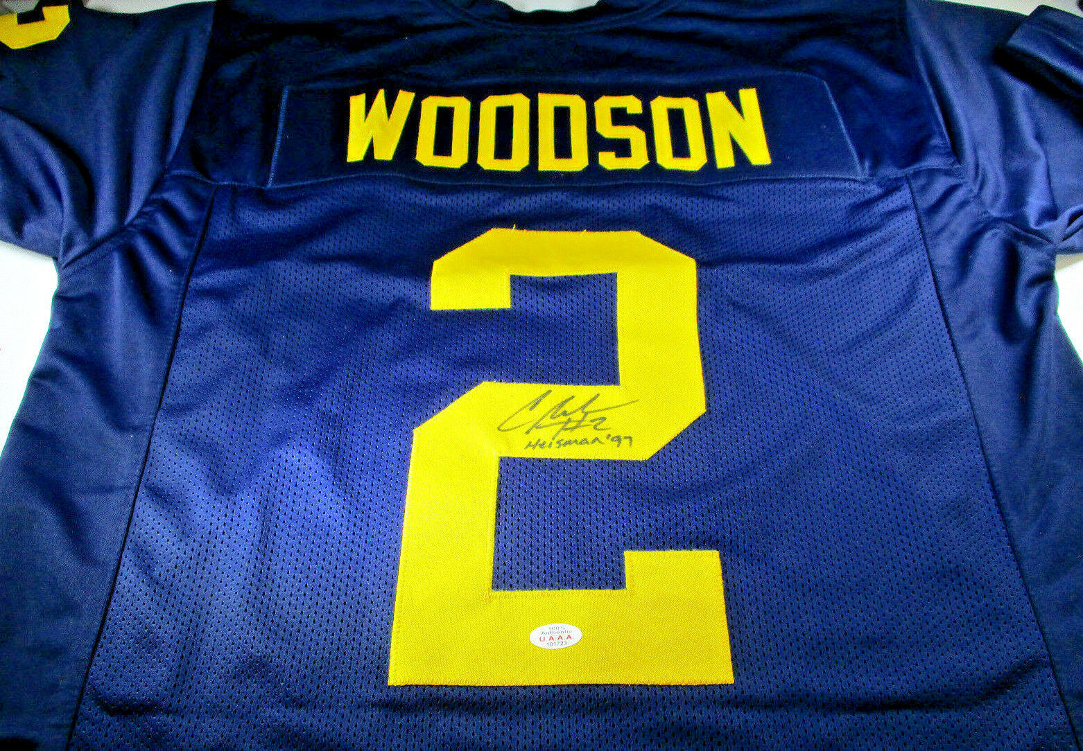 innovative design 22c05 45794 CHARLES WOODSON / MICHIGAN WOLVERINES / AUTOGRAPHED CUSTOM FOOTBALL JERSEY  / COA
