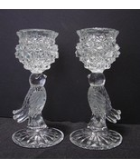 Pair of Hofbauer Crystal Byrdes Candle Holders 7.75 Inches Tall - $24.90