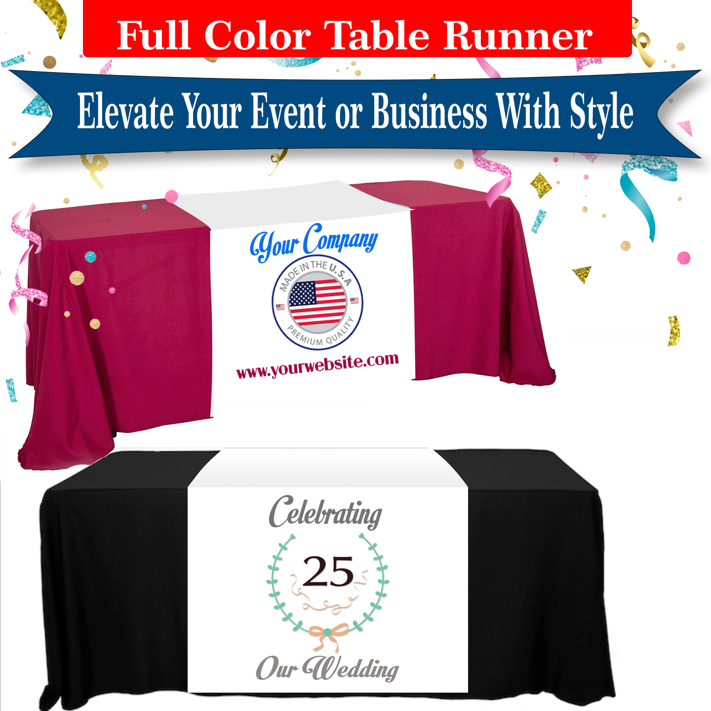 Table runner promotional marketing tremendous designs updated new final
