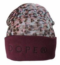Dope Couture D0915-H510-BUR Seurat Beanie Weinrot Meliert Hut Totenkopf Kappe