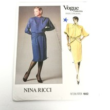 Vogue 1662 Pattern Nina Ricci Dress Size 8 Paris Original Vintage Uncut ❤️ - $46.95