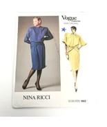 Vogue 1662 Pattern Nina Ricci Dress Size 8 Paris Original Vintage Uncut ❤️ - $46.95