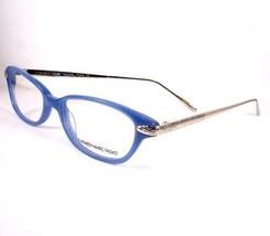 Carmen Marc Valvo Stella Azure Blue Eyeglasses 51-17-137 Plastic Frames new - $58.41