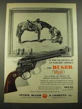 1960 Ruger Single-Six Revolver Ad - art by Charles Schreyvogel - $14.99