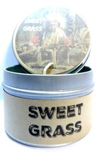 Sweet Grass (Native American Aroma) 4oz All Natural Soy Candle Tin (Take... - £4.28 GBP