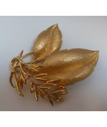 Vintage Sarah Coventry Gold-tone Leaves/Branch Brooch/Pin  - $18.80