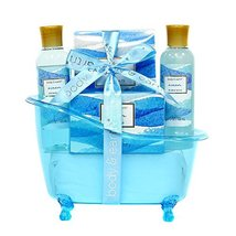 Spa Gift Baskets for Women, Body & Earth Bath Gift Set with Tub, Gifts for Her,  image 12