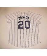 Jorge Posada #20 New York Yankees MLB AL BOYS White Pinstripe Vintage Je... - $39.59