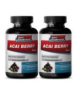 Fat Burner For Men Capsules - Acai Berry Lean 550mg - Acai Fruit Powder 2B - $21.73