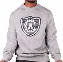 Crooks & Castles Tiger Camo Denim Men's Knit Crew Neck Sweatshirt Grey 2... - $48.90