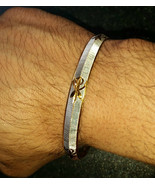 Two Tone Silver Gold Plated Laser Khandas Engraved Sikh Singh Khalsa Kar... - $12.74