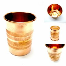 LOT of 6 100% Copper 300ml Designer Drinking Glass Cup Tumbler Mug Ayurv... - $49.34