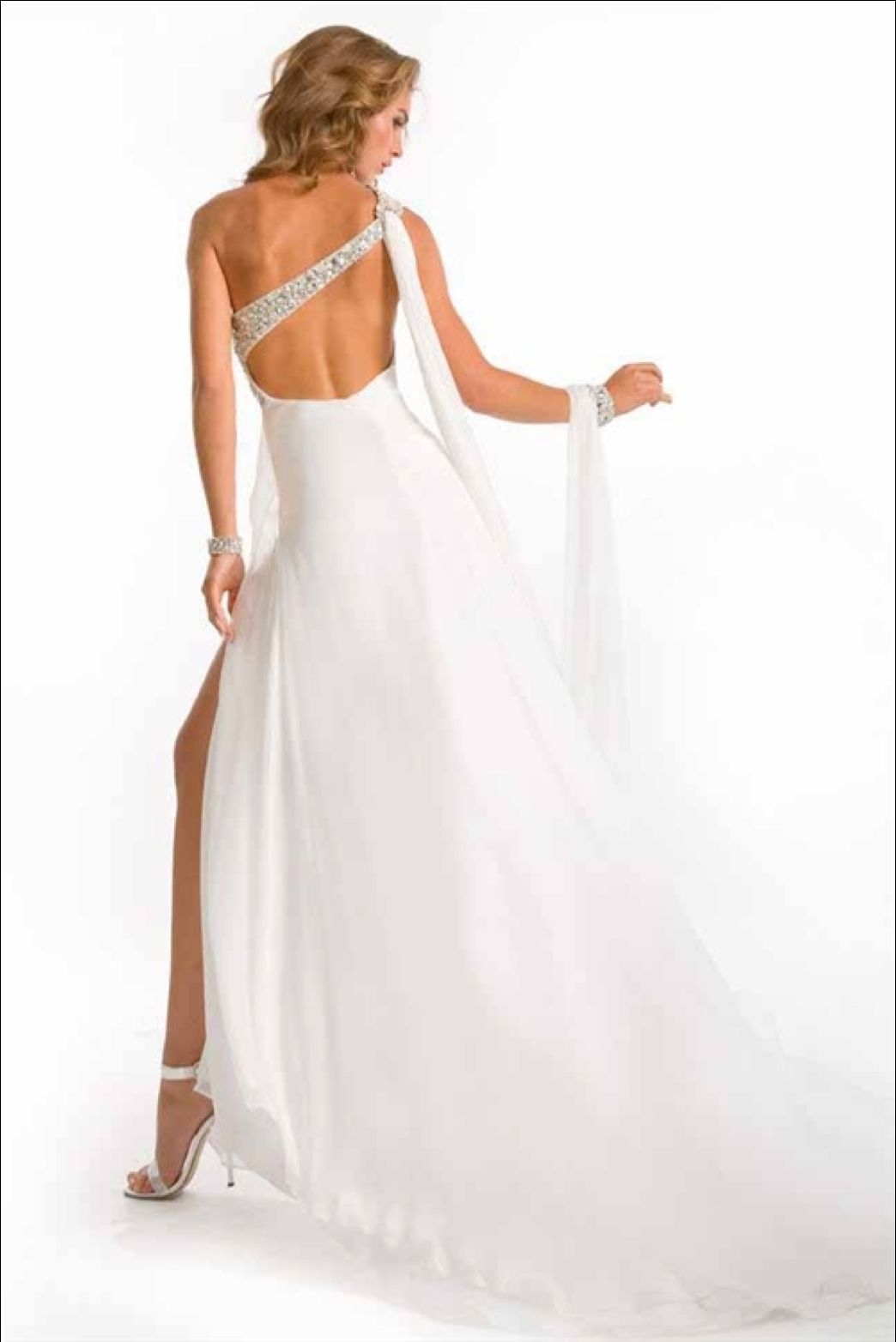 Sexy One Shoulder Silk Pageant Prom Evening Gown Dress, Prima Donna 5617