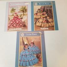 Crochet Doll Dress Lot of Three Patterns Native American Colonial - $8.58