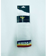 Dr. Martens Men's Large Crew Socks 11-14 Athletic Pride Sock White Rainb... - $19.99