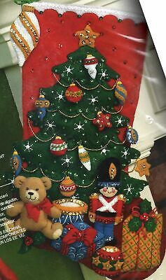 Primary image for Bucilla Under the Tree Christmas Toys Bear Gifts Holiday Felt Stocking Kit 86303