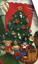 Bucilla Under the Tree Christmas Toys Bear Gifts Holiday Felt Stocking K... - $37.95