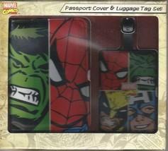 Marvel Comics Face Off Vinyl Passport Holder and Luggage Tag Set UNUSED BOXED - $16.44