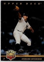 1993 Upper Deck Baseball, #16, Sterling Hitchcock, New York Yankees, Star Rookie - $0.99