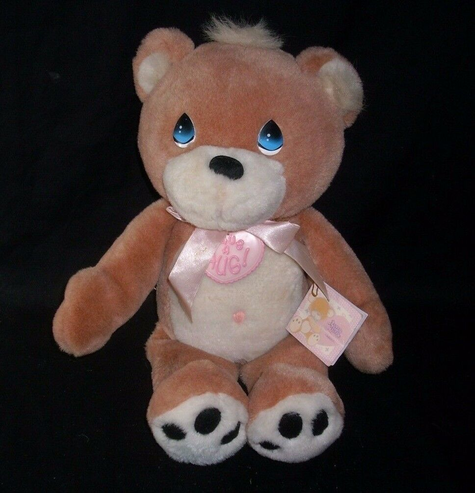 "15"" ENESCO 1997 HAVE A HUG BROWN BABY TEDDY BEAR STUFFED ANIMAL PLUSH TOY W/ TAG"