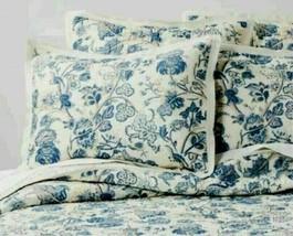 Threshold Washed Blue Voile Floral Printed Sham w/Flange ~ Standard - $18.31