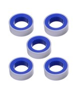 Water Pipe Air Hose Threads 12mm Width PTFE  Thread Seal Tape White 5pcs - £3.62 GBP