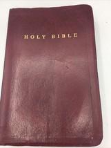 Holy Bible NIV 1986 Zondervan ISBN 0-310-90576-1 Burgundy Leather - $20.56