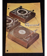 GARRARD TURNTABLE CATALOG COMPARATOR for LAB 40,50,60,70,80 and Accessories - $14.84