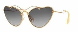 Brand New Miu Miu Sunglasses MU 55R 55RS 7OE3E2 Gold/Gradient Brown Women - $168.28