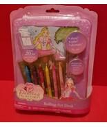Barbie Doll Craft Activity Rolling Art Desk 12 Dancing Princesses Sticke... - $18.99