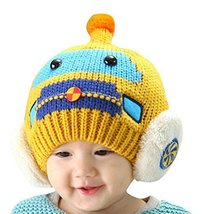 Newborn Baby Hats Lovely Winter Kids Hats YELLOW, 3-24 Months