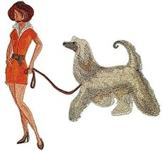 Amazing Custom Dog [Fashionista And Afghan Hound ] Embroidered Iron On/S... - €12,05 EUR