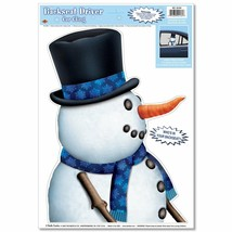 Fun Frosty SNOWMAN BACKSEAT DRIVER CAR CLING Holiday Christmas Window De... - $3.93