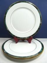 "3 Lenox Kelly Dinner Plate 10 7/8"" Retired Green Black Purple Band Gold ... - $57.82"