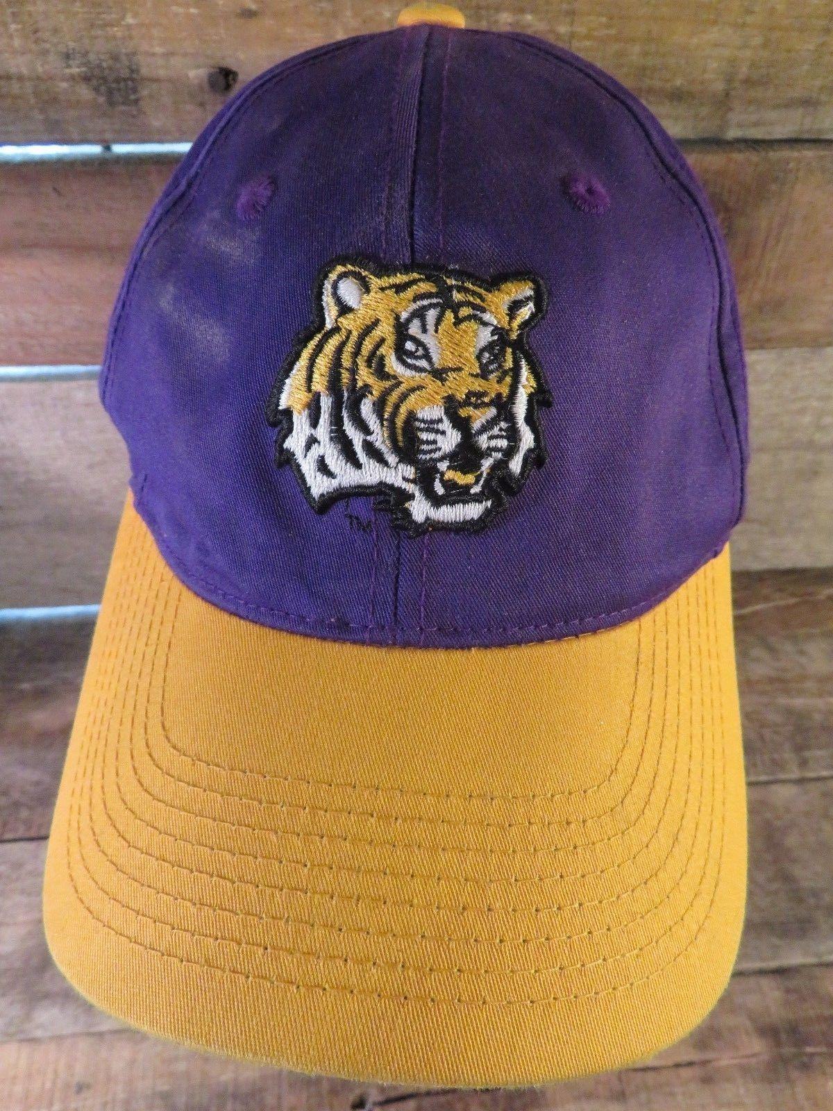 2d313a21 ... hot lsu tigers adjustable adult cap hat 1ed3c a6ab2