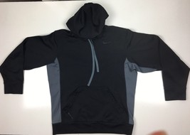 Nike Athletic Mens Therma-Fit Hoodie  Long Sleeves Black Size Small - $19.98