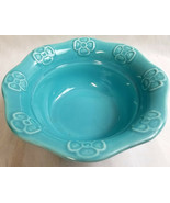 "USA California Artist Pottery Dish Bowl Glazed Aqua Blue 2.5"" Tall Handm... - $24.95"