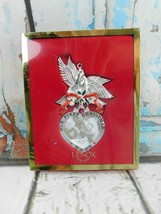 Lenox 2003 1st Christmas Together Ornament Dangle Heart Mini Photo Frame... - $14.84