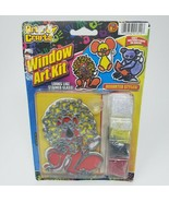 2004 JA-RU ARTS & CRAFTS WINDOW ART KIT SUNCATCHER LOOKS LIKE STAINED GL... - $23.38