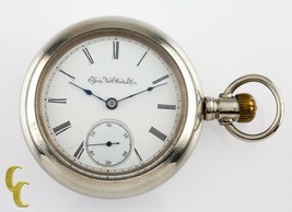 Silveroid Elgin Antique Open Face Pocket Watch Grade 96 Size 18 7 Jewel - $239.80