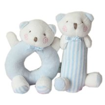 Cute Baby Stuffed Animals Infant Toys Toddler Plush Toys Bears Set Blue